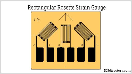 Rectangular Rosette Strain Gauge