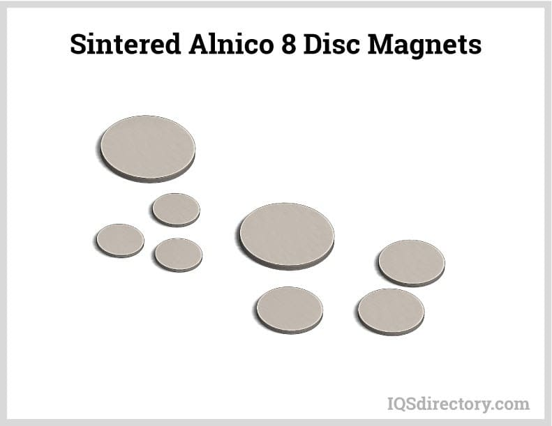Sintered Alnico 8 Disc Magnets
