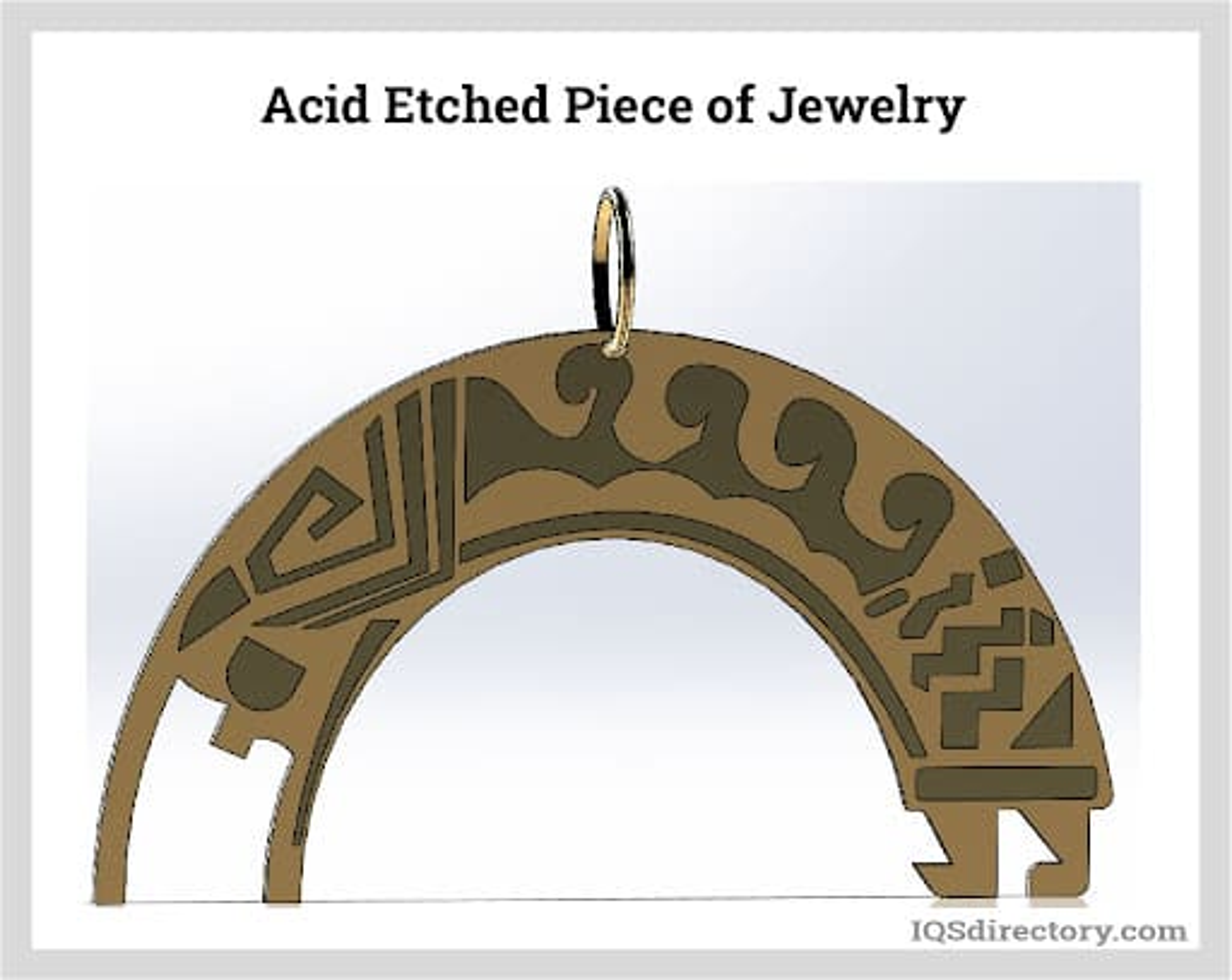 Acid Etched Piece of Jewelry