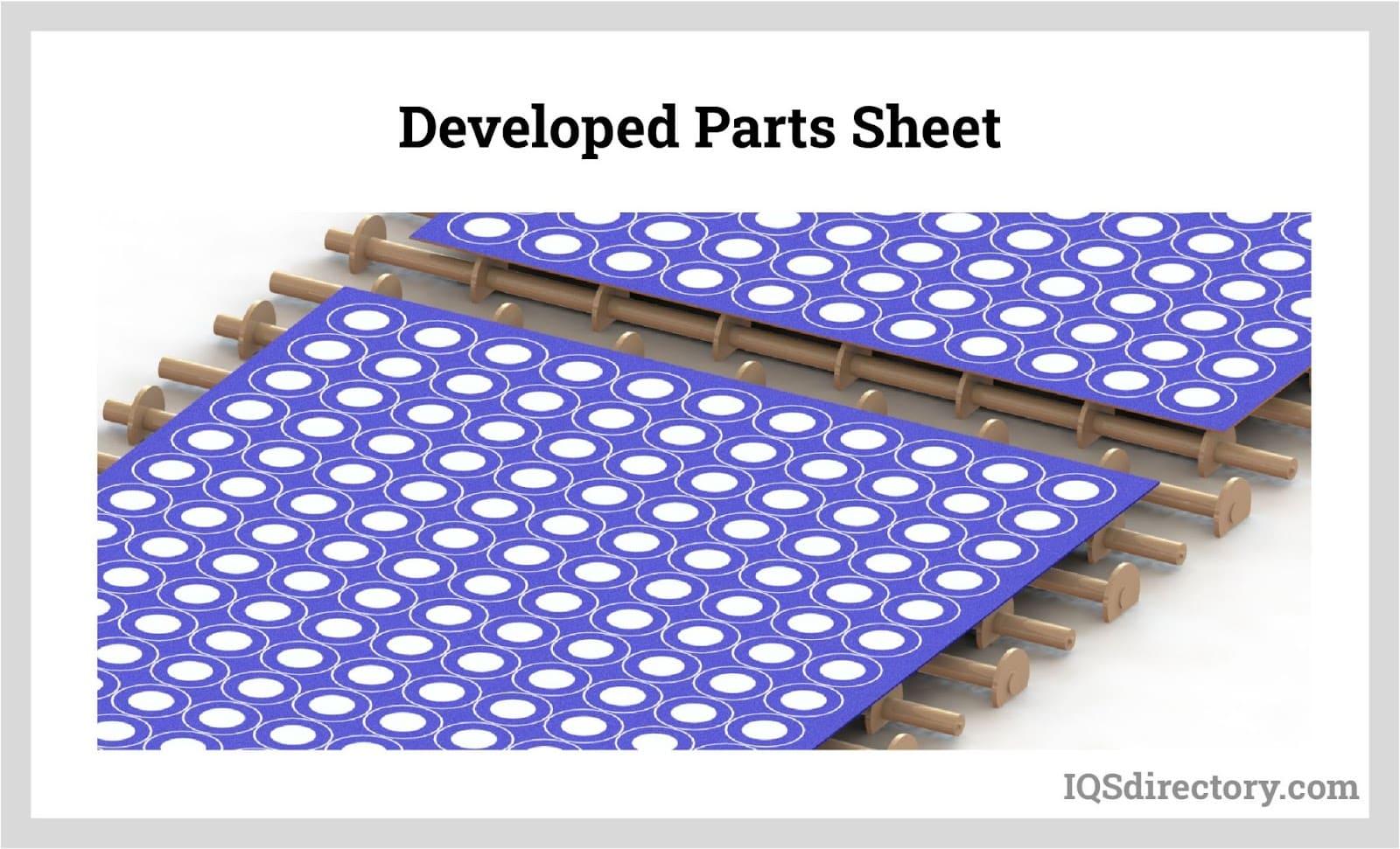 Developed Parts Sheet