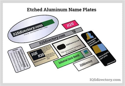Etched Aluminum Name Plates