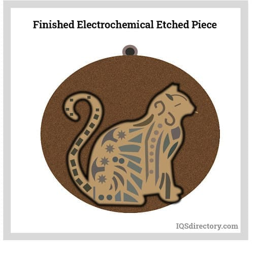 Finished Electrochemical Etched Piece