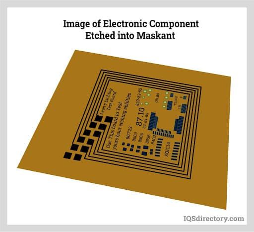 Image of Electronic Component Etched into Maskant