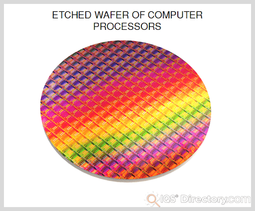 Etched Wafer of Computer Processors