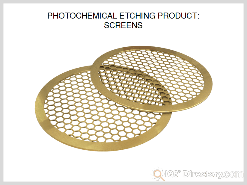 Photochemically Etched Screens