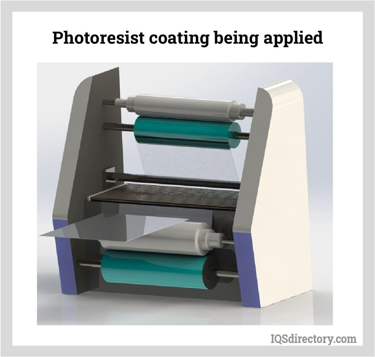 Photoresist Coating Being Applied