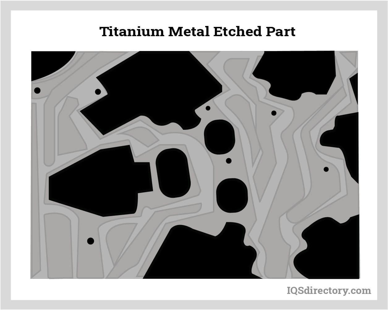 Titanium Metal Etched Part