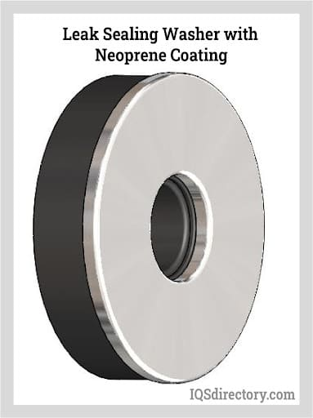 Leak Sealing Washer with Neoprene Coating