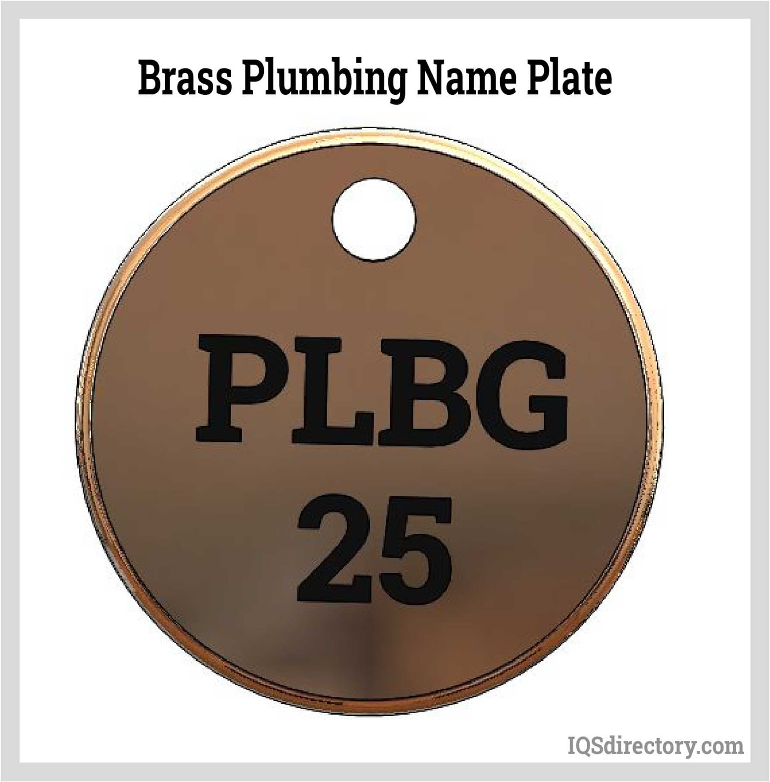 Brass Plumbing Name Plate