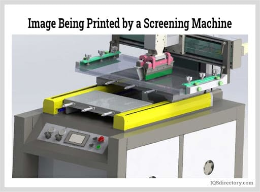 Image Being Printed by a Screening Machine