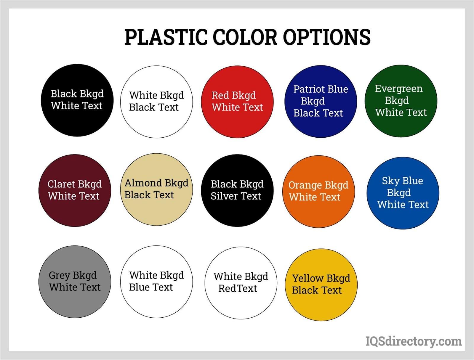 Plastic Color Options