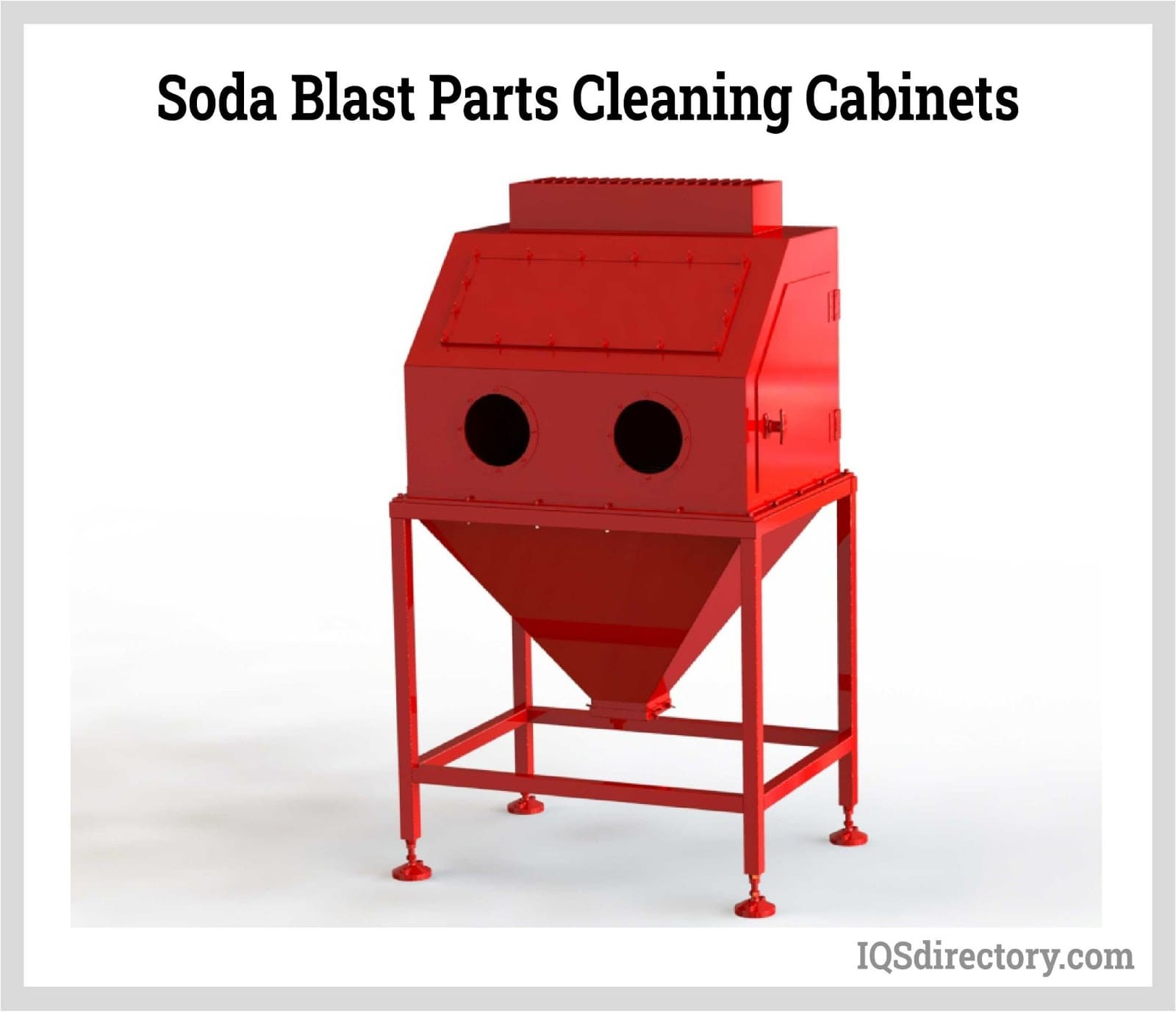 Soda Blast Parts Cleaning Cabinets