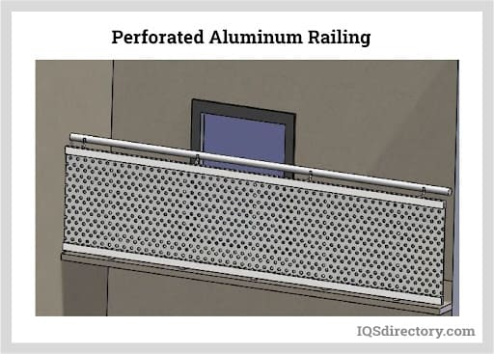 Perforated Aluminum Railing