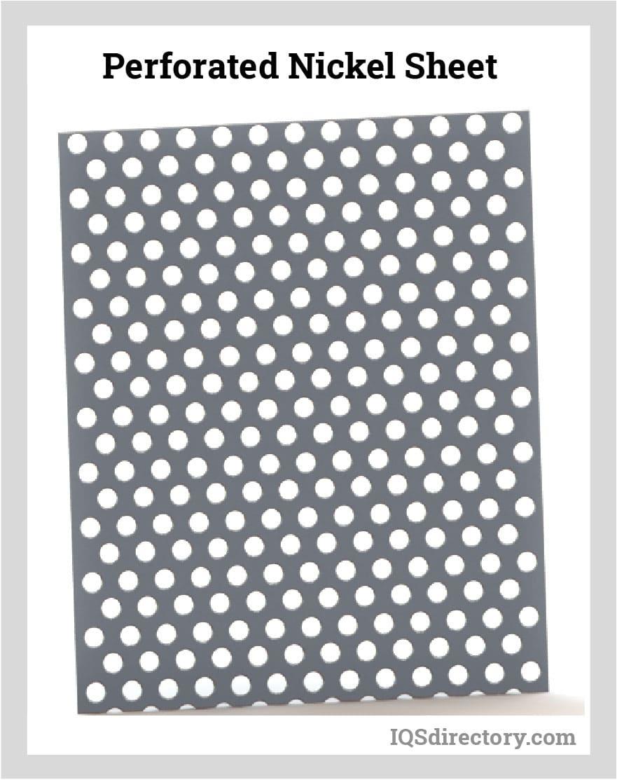 Perforated Nickel Sheet