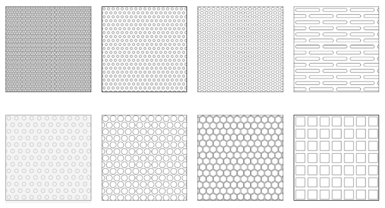 Popular Perforated Metal Patterns