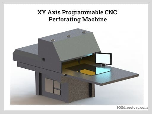 XY Axis Programmable CNC Perforating Machine