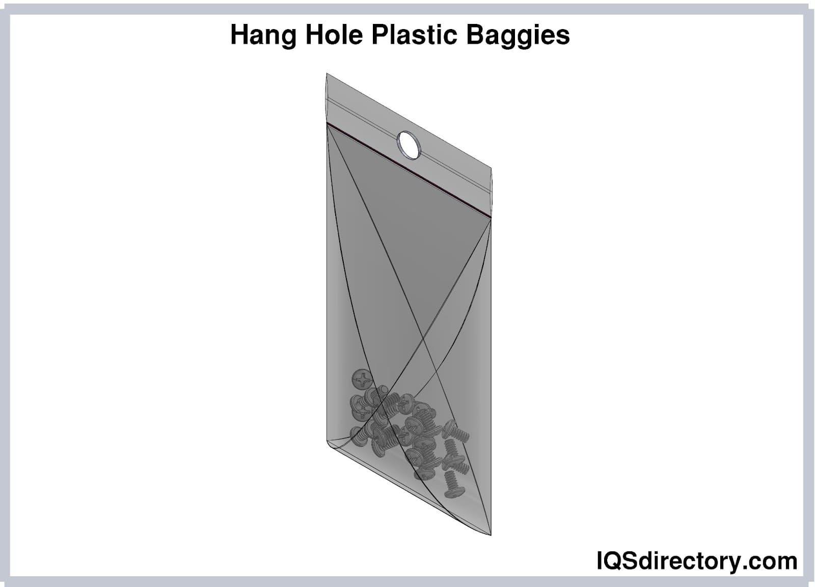 Hang Hole Plastic Baggies