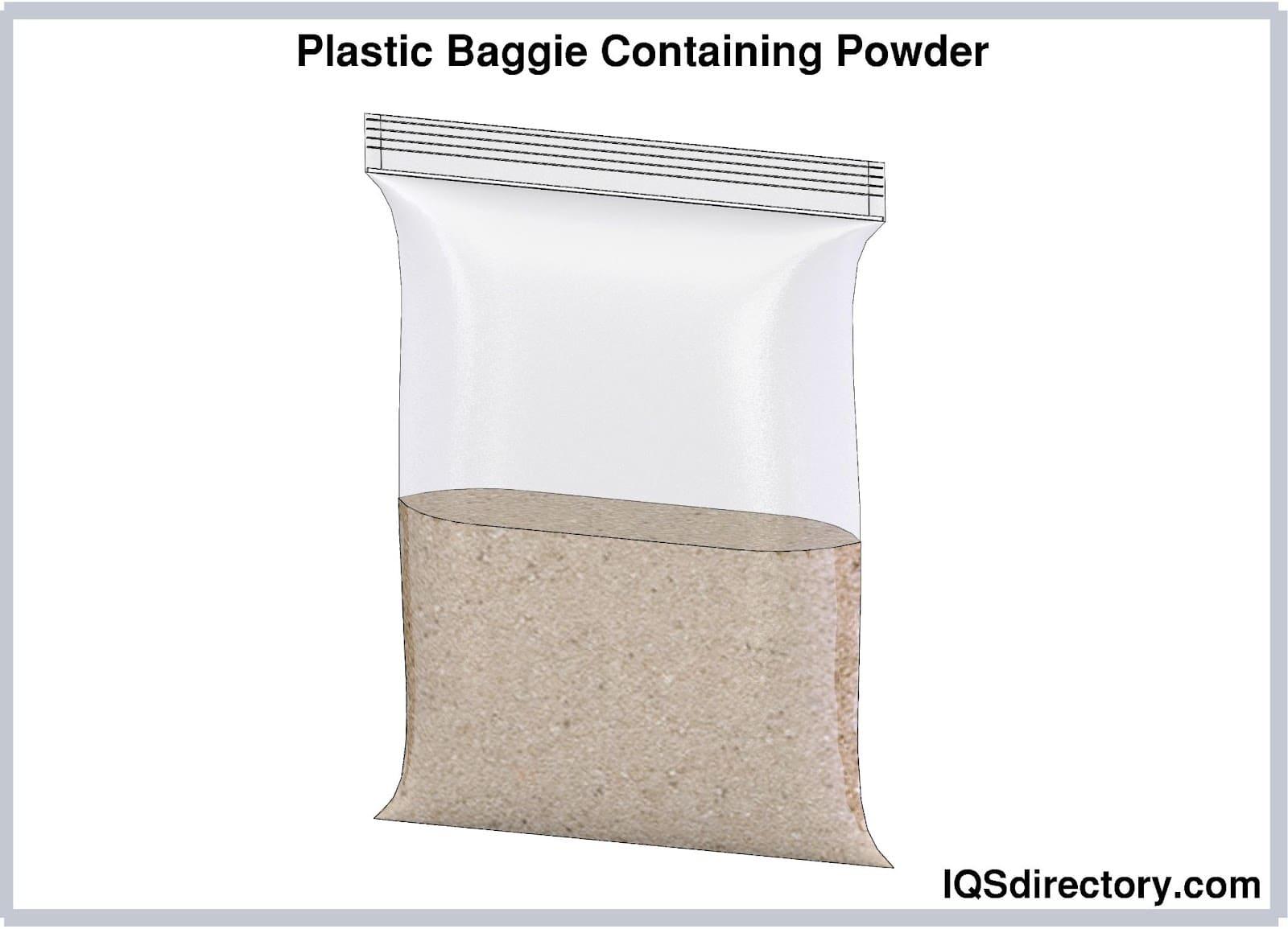 Plastic Baggie Containing Powder