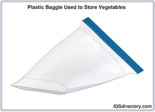 Plastic Baggie Used to Store Vegetables
