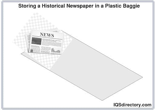 Storing a Historical Newspaper in a Plastic Baggie