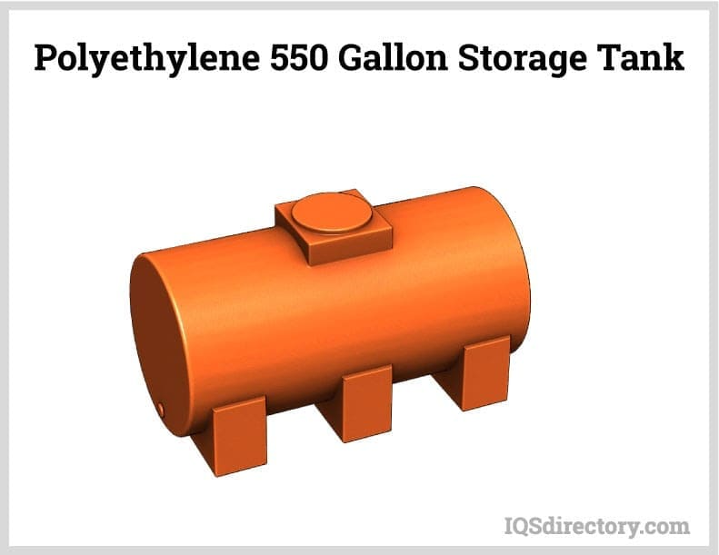 Polyethylene 550 Gallon Storage Tank