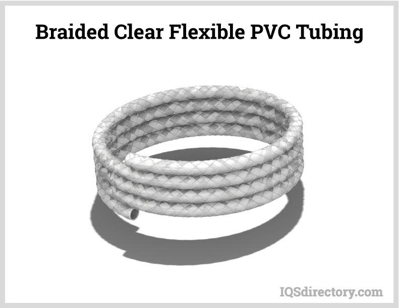 Braided Clear Flexible PVC Tubing