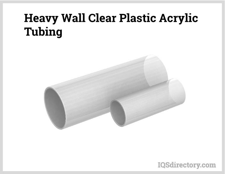 Heavy Wall Clear Plastic Acrylic Tubing
