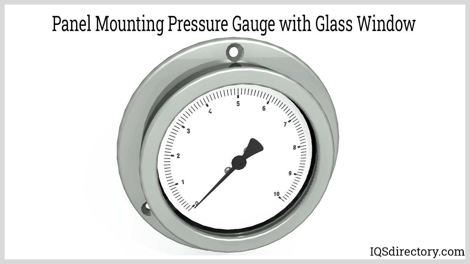 Panel Mounting Pressure Gauge with Glass Window