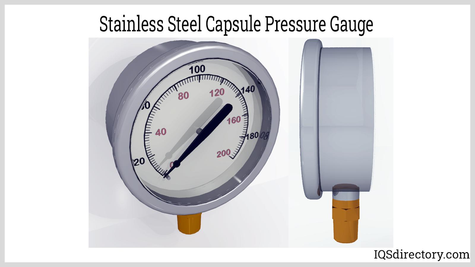 Stainless Steel Capsule Pressure Gauge