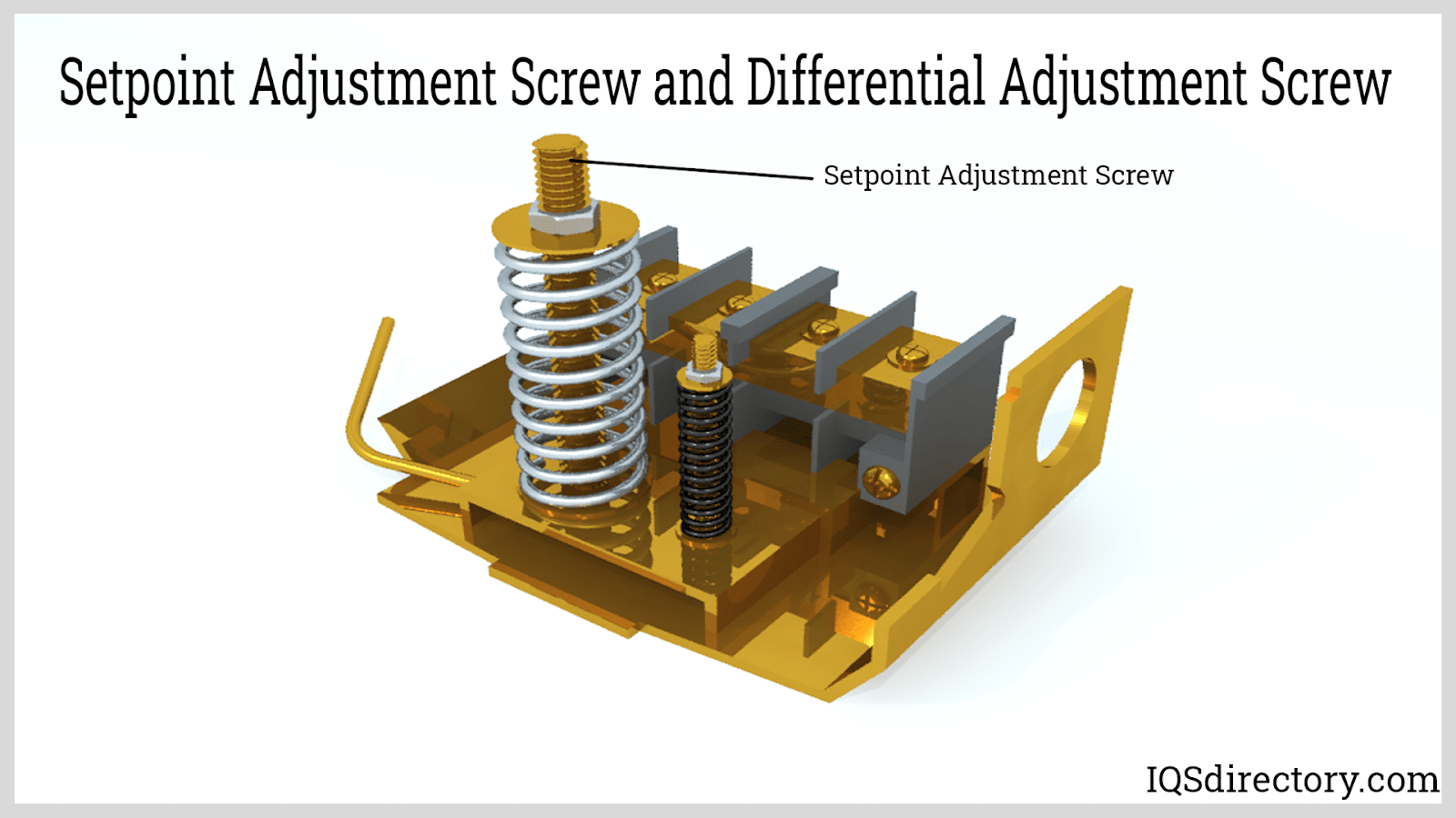 Setpoint Adjustment Screw and Differential Adjustment Screw