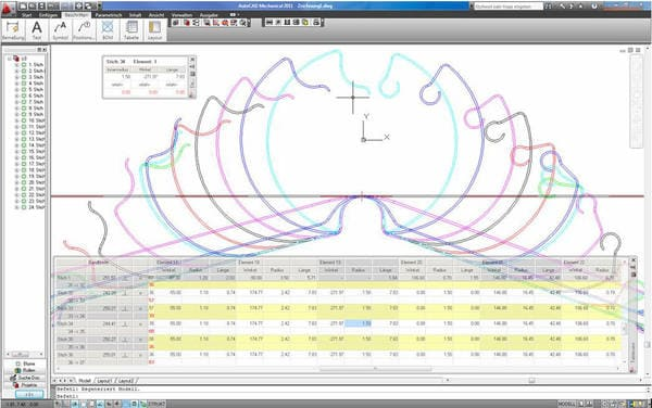 3D CAD Flower Pattern Profile