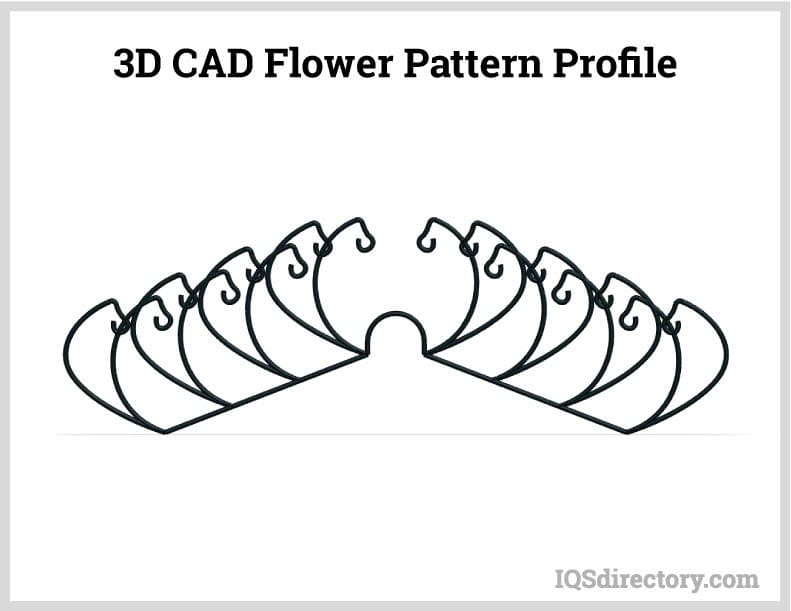 3D CAD Flower Pattern Profile