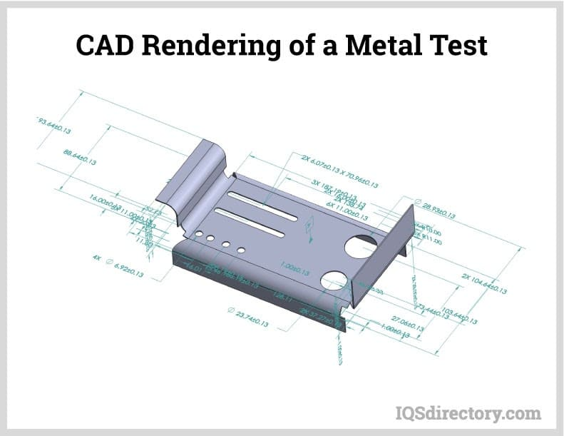 CAD Rendering of a Metal Test