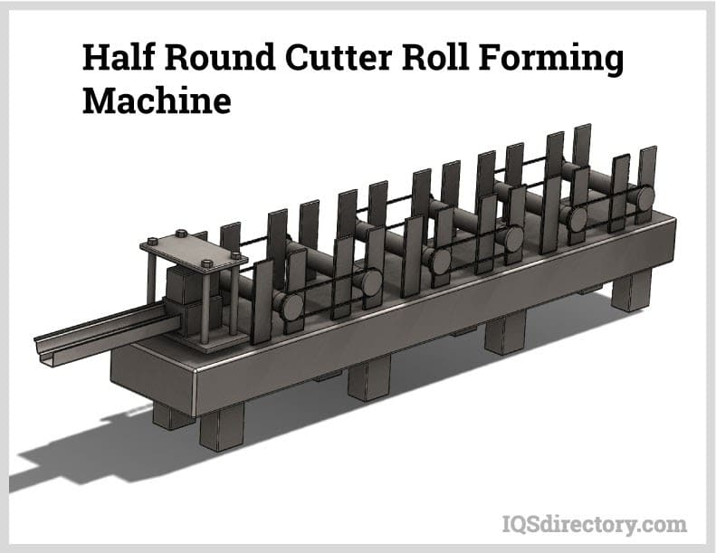Half Round Cutter Roll Forming Machine