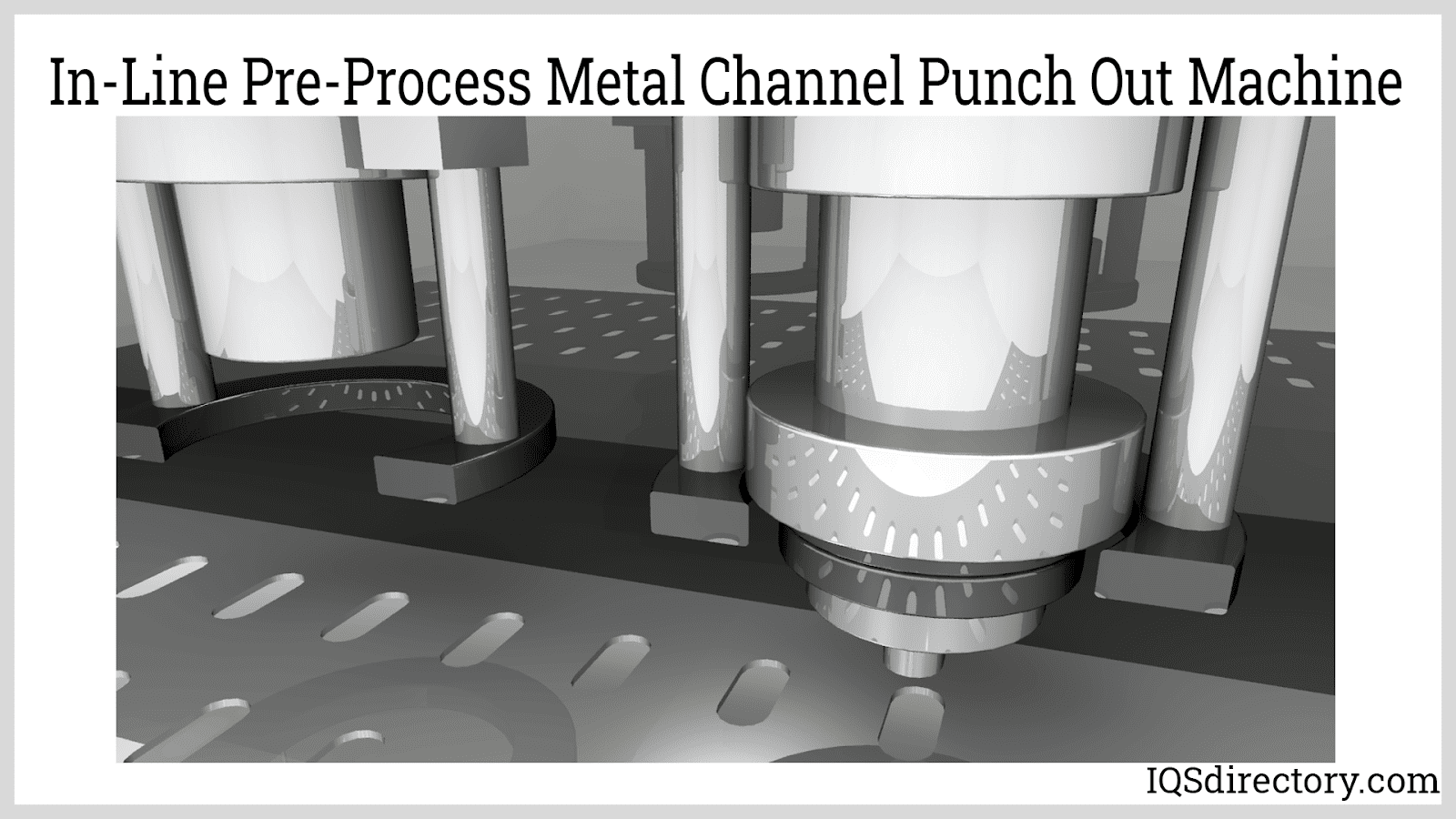In-Line Pre-Process Metal Channel Punch Out Machine