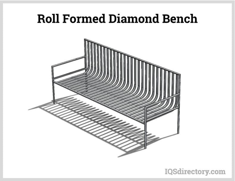 Roll Formed Diamond Bench
