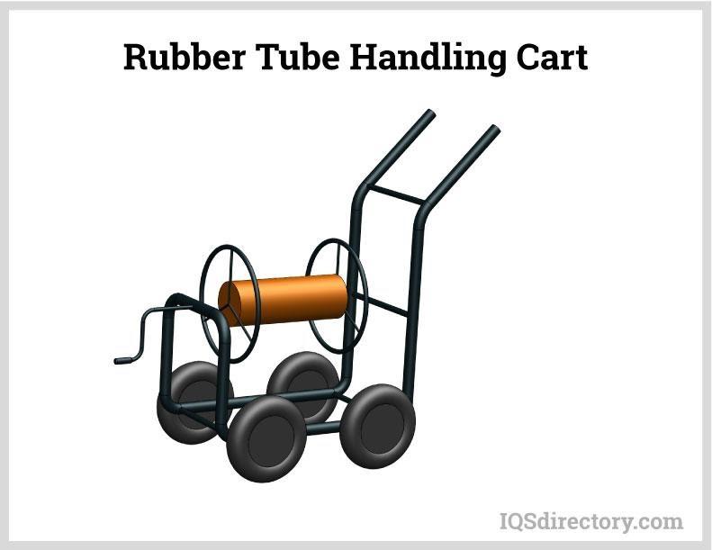Rubber Tube Handling Cart