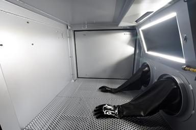 Blast Cabinet Gloves, Grating, Window and LED Lighting