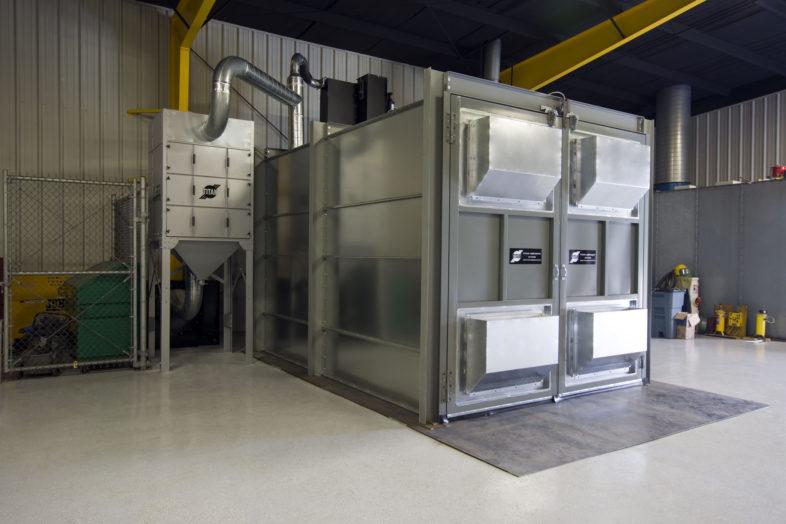 Galvanized Steel Blast Room