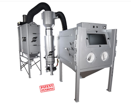 Manual Blast Cabinet Package with Separator and Dust Collector
