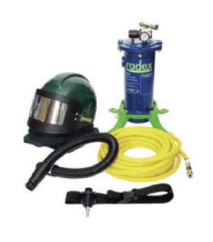 Operator Blast Hood with Breathing Air Filters