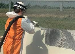 Paint Stripping with Sandblasting