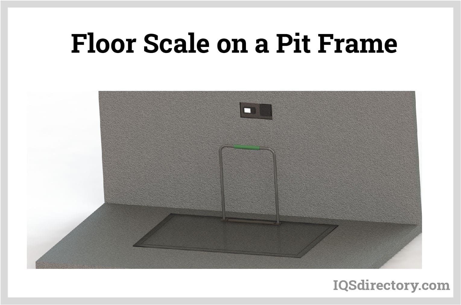 Floor Scale on a Pit Frame