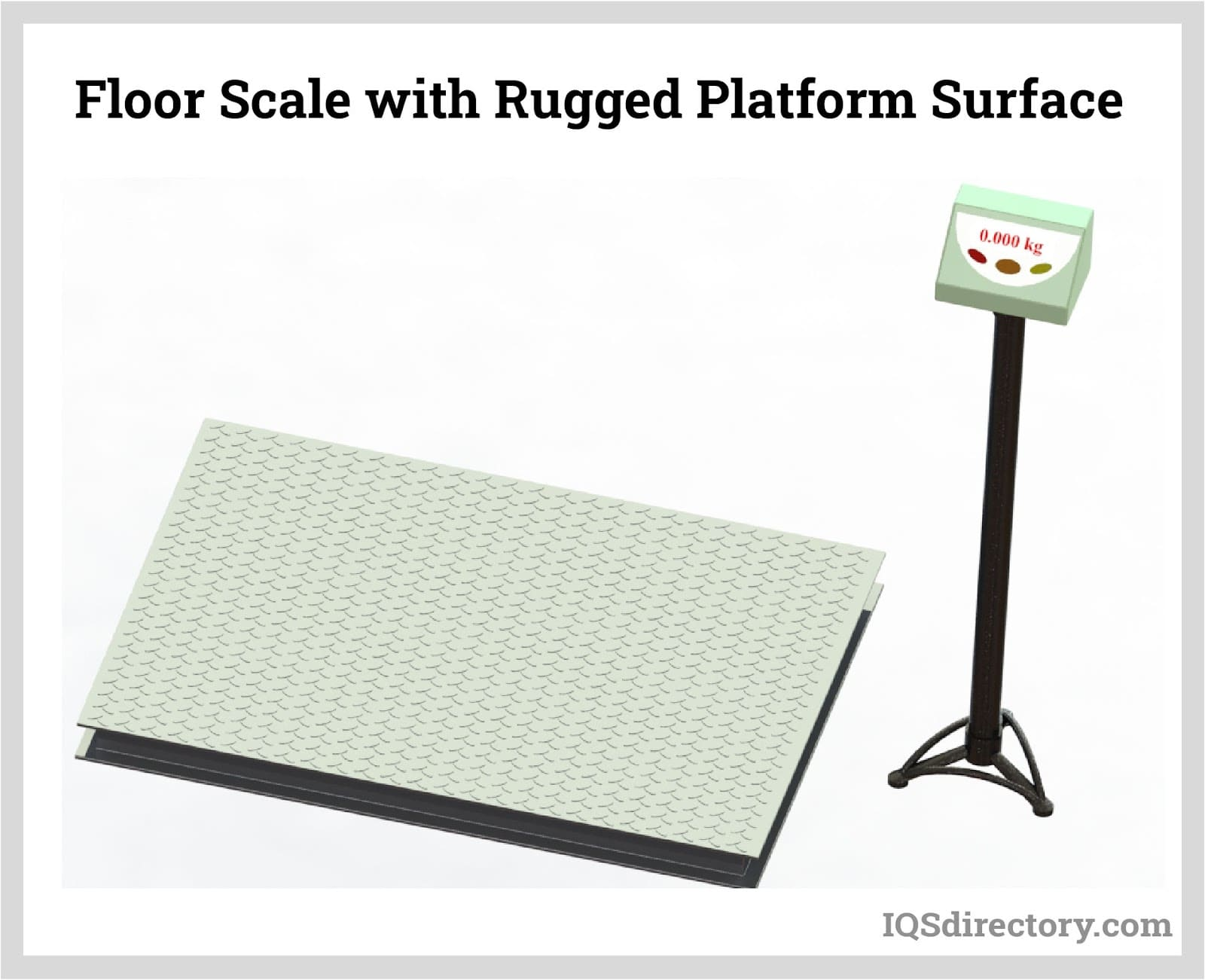 Floor Scale with Rugged Platform Surface