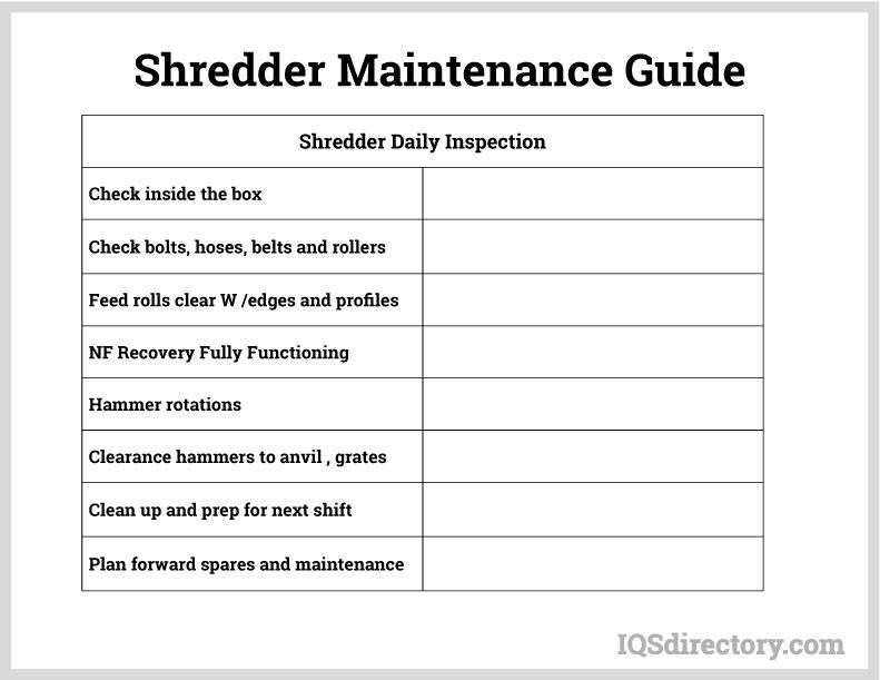 Shredder Maintenance Guide
