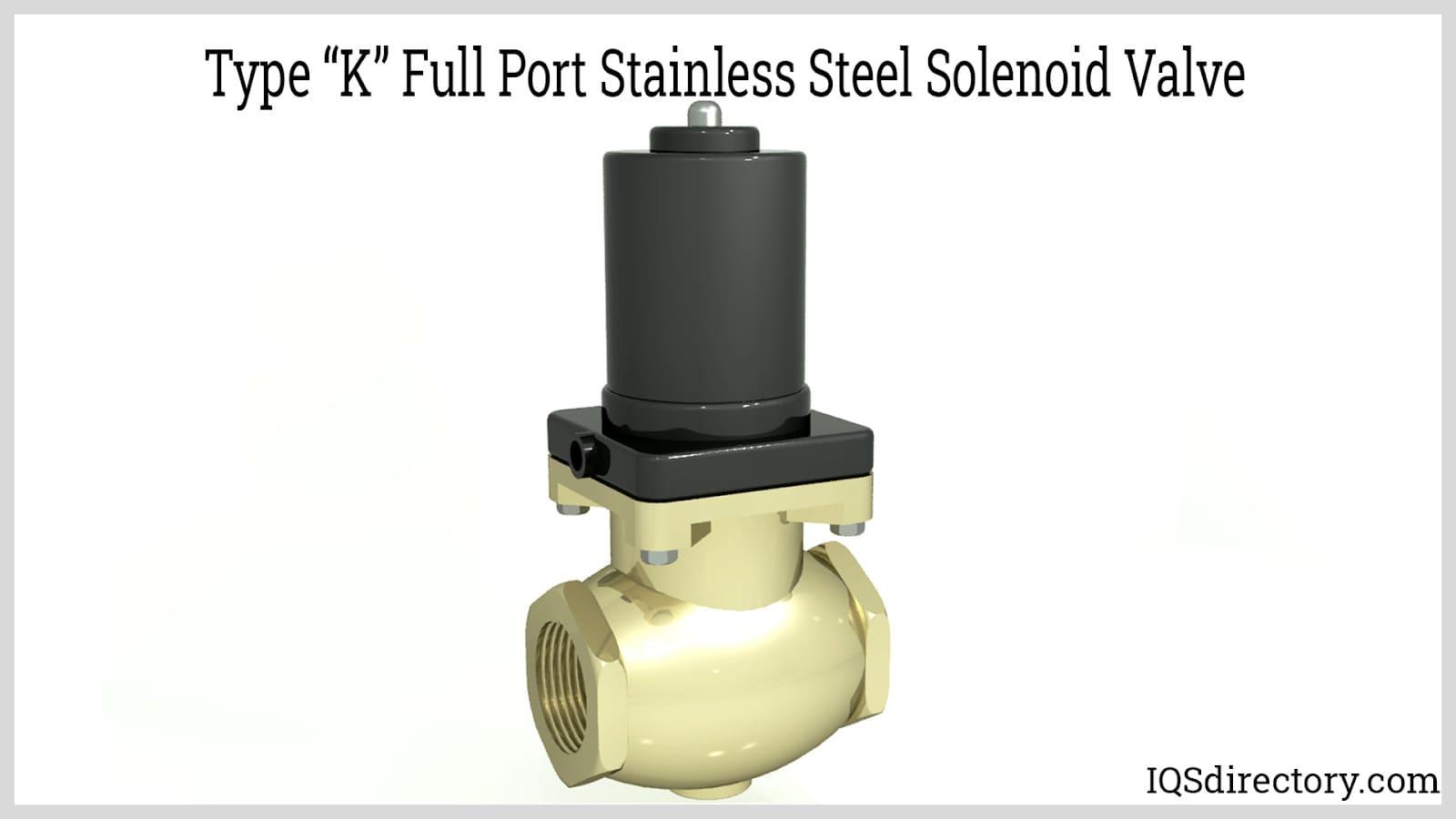 """Type """"K"""" Full Port Stainless Steel Solenoid Valve"""