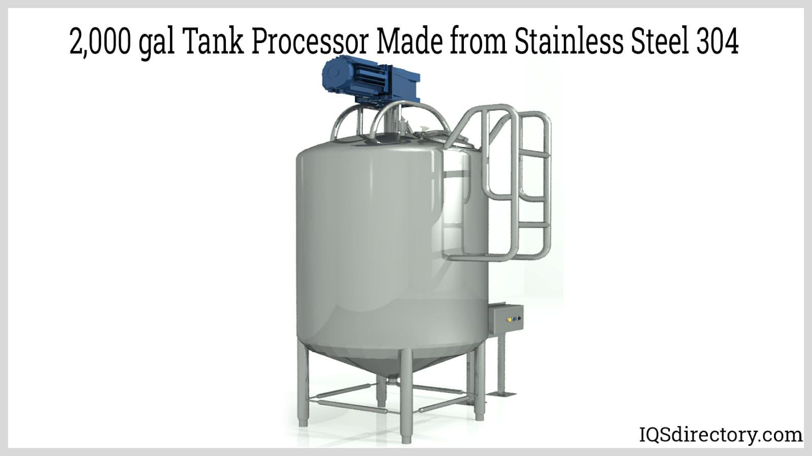 2,000 gal Tank Processor Made