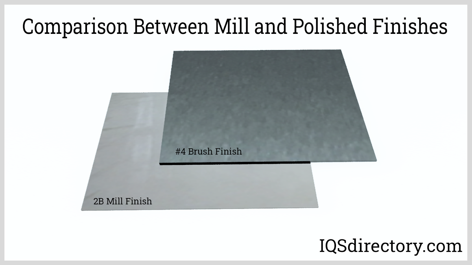 Comparison Between Mill and Polished Finishes