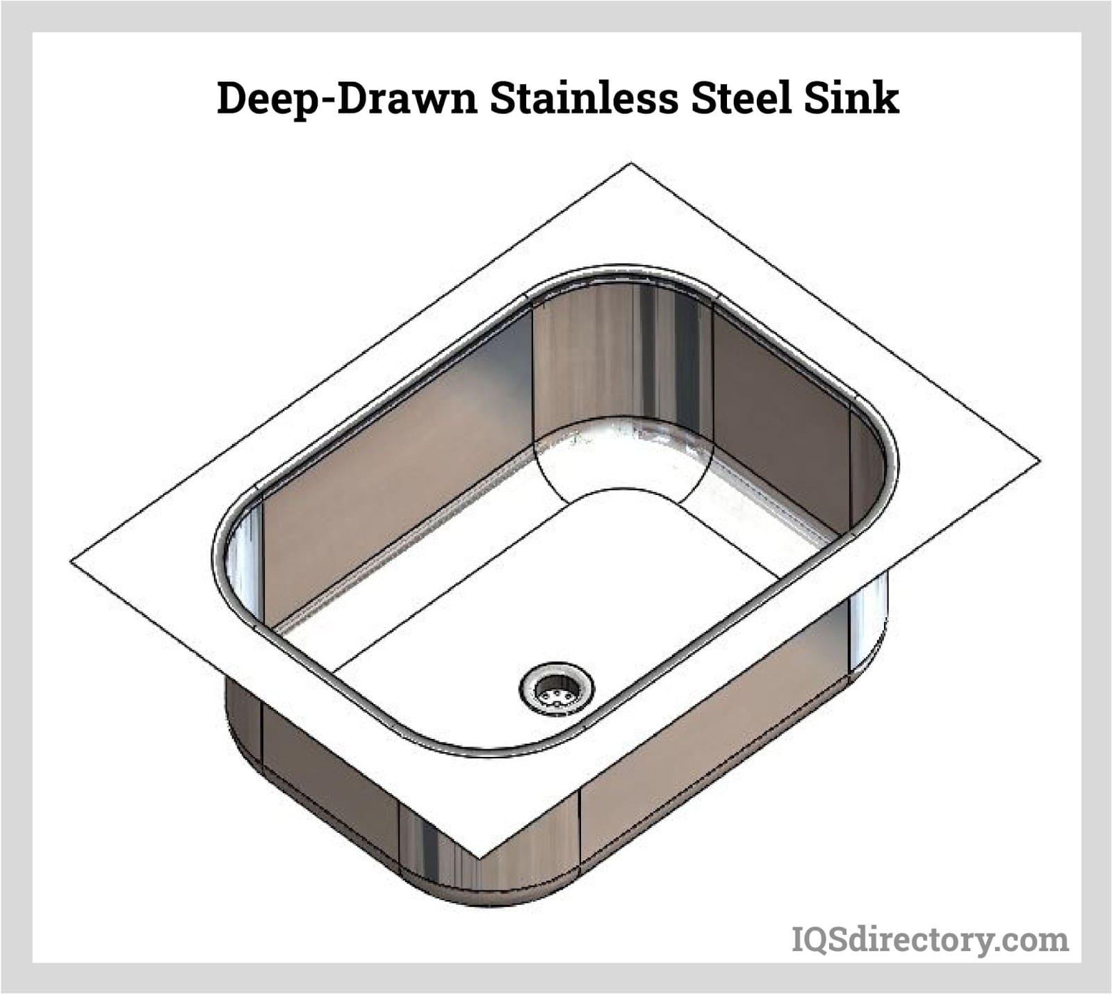 Deep-Drawn Stainless Steel Sink