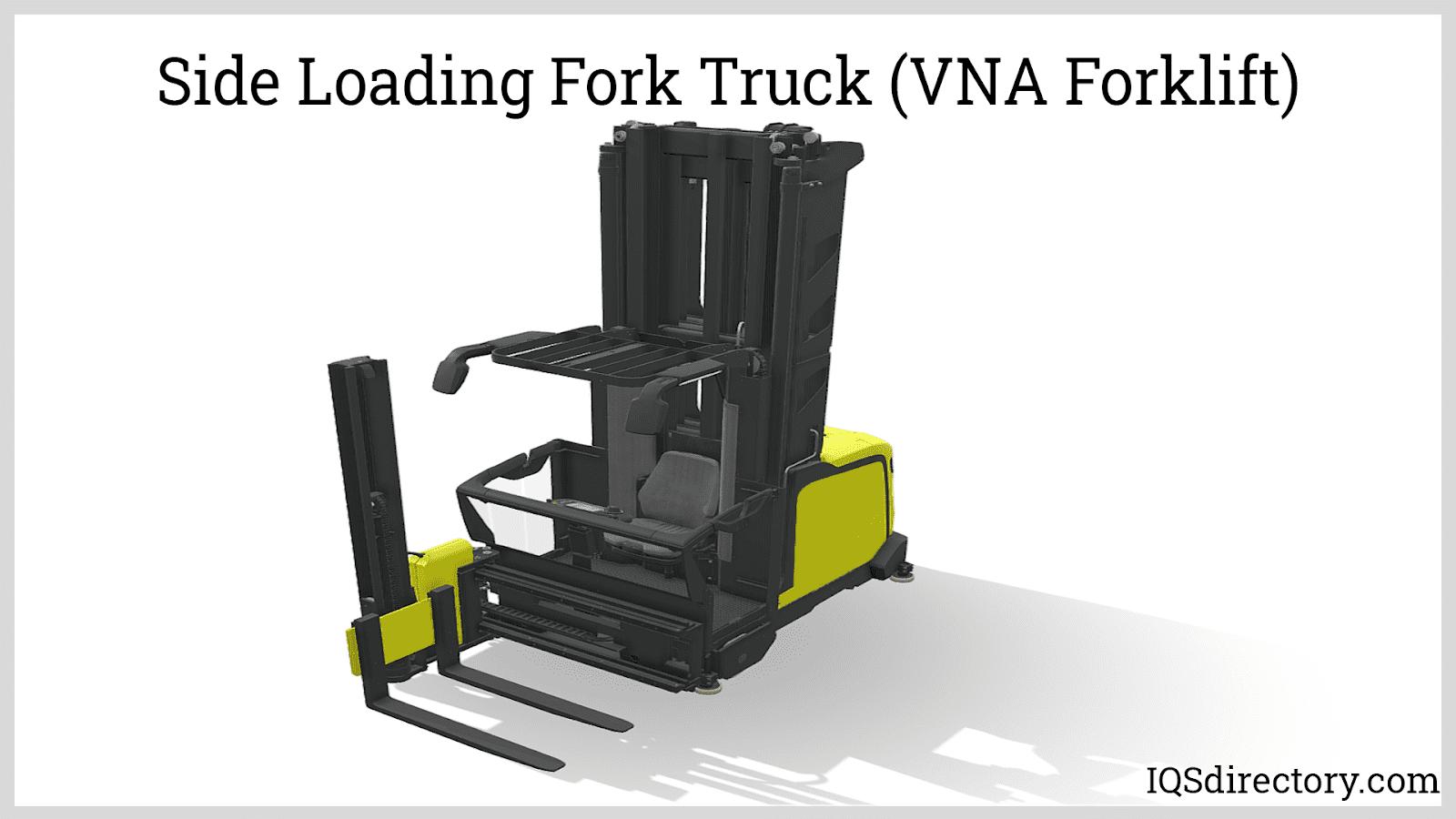 Side Loading Fork Truck (VNA Forklift)